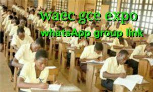 Waec Gce Expo WhatsApp Group Link